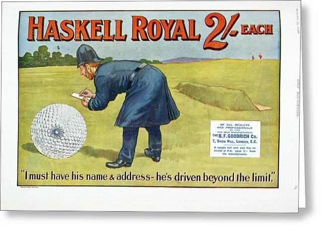 Golf Advertisement Greeting Card