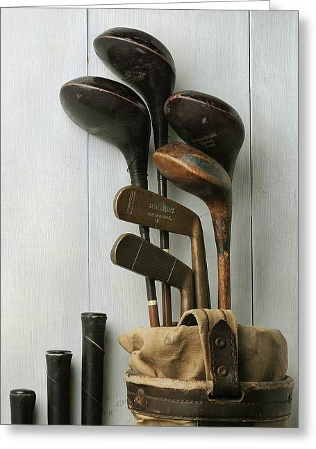 Golf Bag With Clubs Greeting Card by Krasimir Tolev