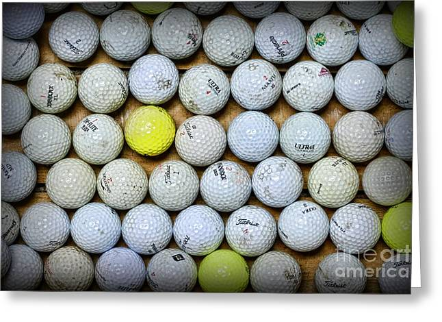 Golf Balls 2 Greeting Card by Paul Ward