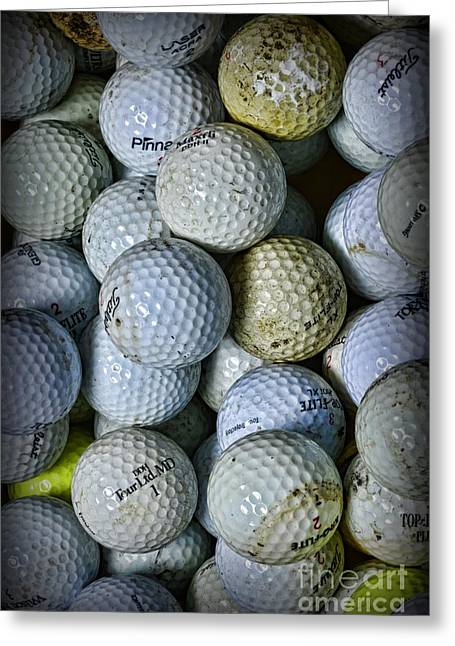Golf Balls 3 Greeting Card by Paul Ward