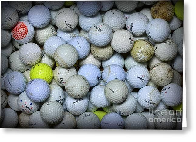 Golf Balls 4 Greeting Card by Paul Ward