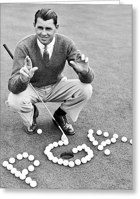 Golf Champion Picard Greeting Card