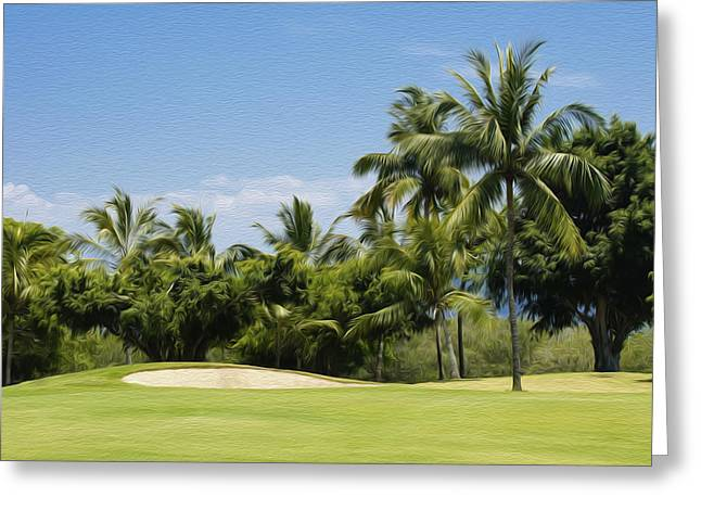Golf Course Greeting Card by Aged Pixel