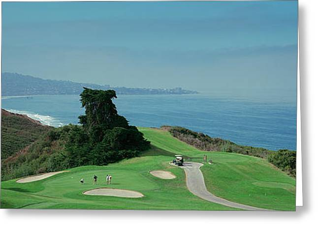 Golf Course At The Coast, Torrey Pines Greeting Card by Panoramic Images