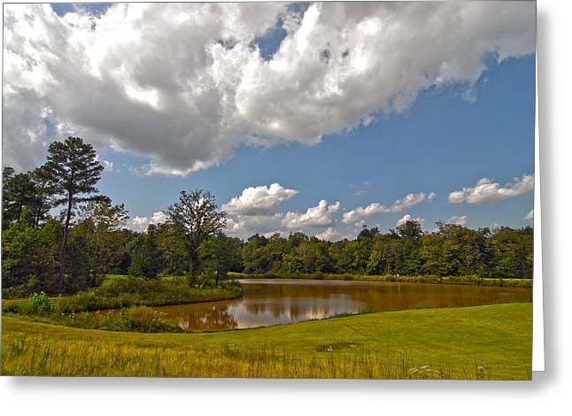 Greeting Card featuring the photograph Golf Course Landscape by Alex Grichenko