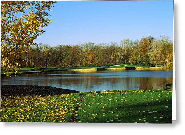 Golf Course, Laurel Valley Golf Club Greeting Card