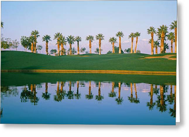 Golf Course Marriots Palms Az Usa Greeting Card by Panoramic Images