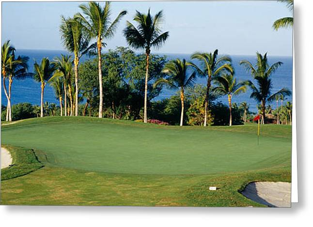 Golf Course Maui Hi Greeting Card by Panoramic Images