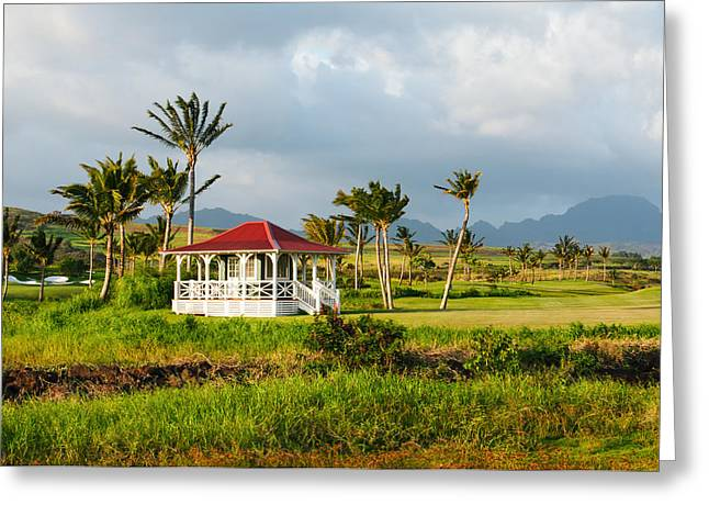 Greeting Card featuring the photograph Golf Course On Poipu Shores Kauai by Photography  By Sai