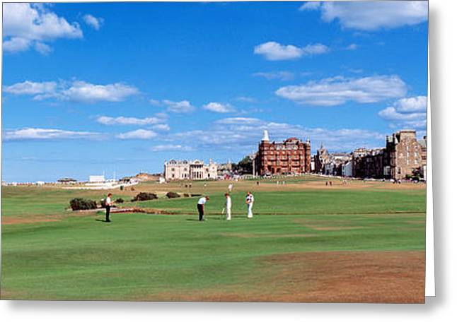Golf Course, St Andrews, Scotland Greeting Card by Panoramic Images