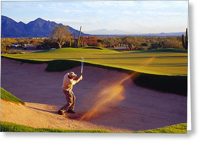 Golf Course Tucson Az Usa Greeting Card by Panoramic Images
