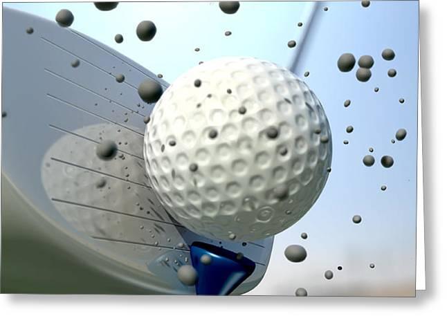 Golf Impact Greeting Card by Allan Swart