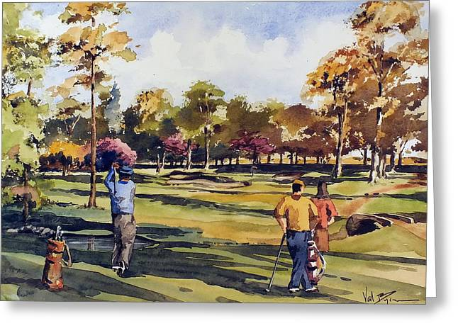 Golf In Ireland Greeting Card