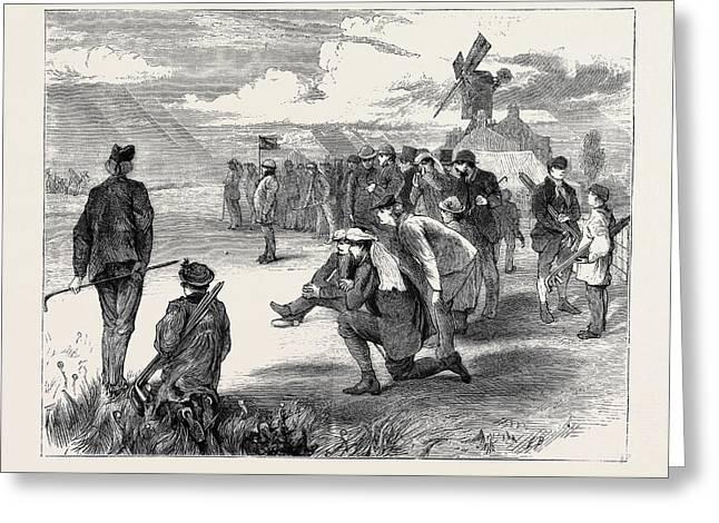 Golf Match Between The Royal Blackheath And London Scottish Greeting Card