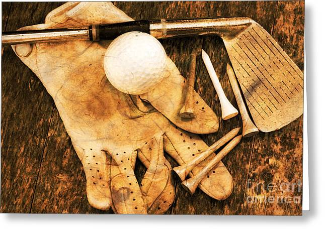 Golf Memorabilia Greeting Card