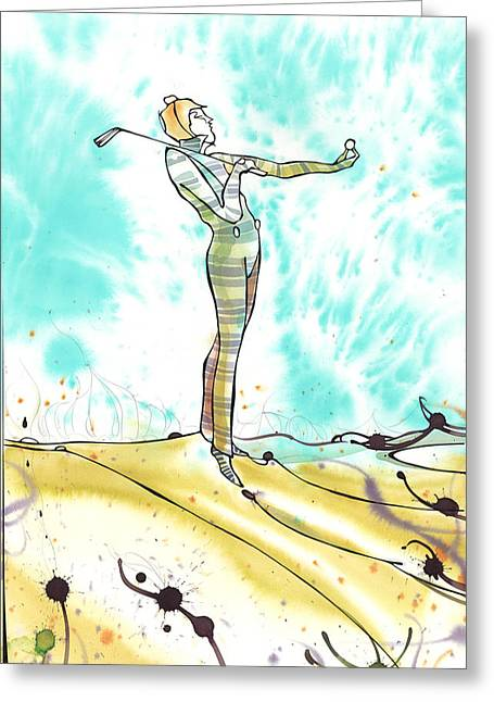 Golfer 1 Greeting Card