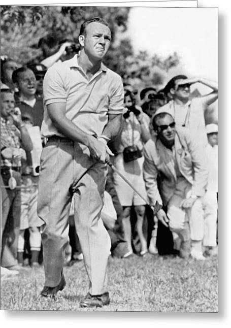 Golfer Arnold Palmer Greeting Card by Underwood Archives