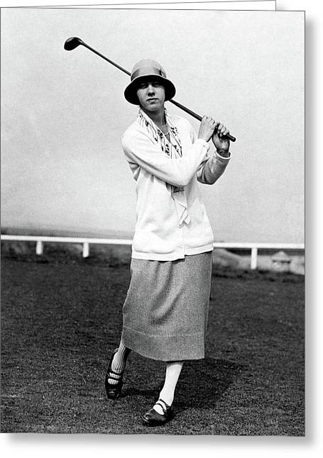 Golfer Joyce Wethered Greeting Card by  Acme