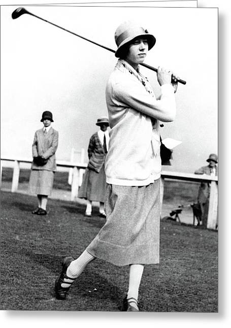 Golfer Joyce Wethered Greeting Card by  Photo-Illustration Company