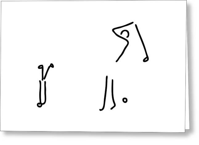 Golfer On Golf Course Greeting Card