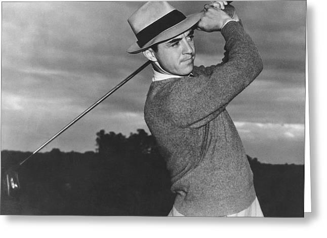 Golfer Sam Snead Greeting Card