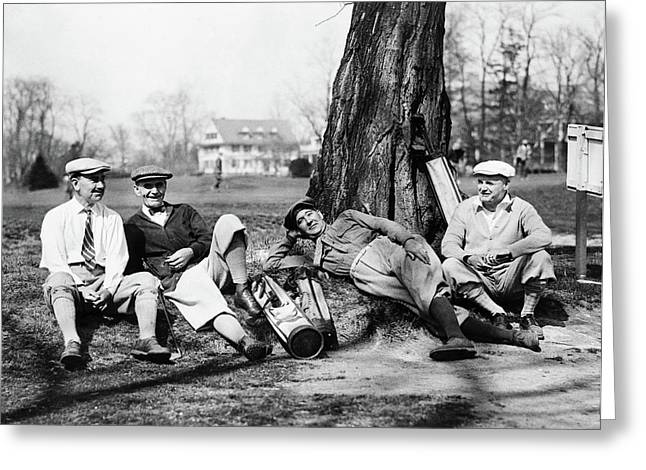 Golfers, C1926 Greeting Card by Granger