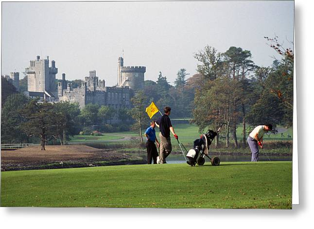 Golfing At Dromoland Castle Greeting Card by Carl Purcell