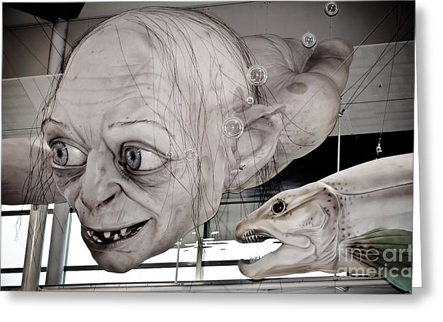 Gollum Or Smeagol Greeting Card by Yurix Sardinelly