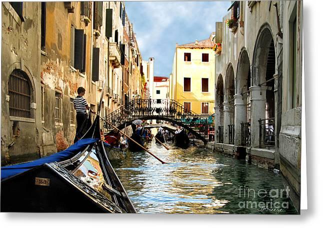Gondola 158-venice Greeting Card by Jennie Breeze