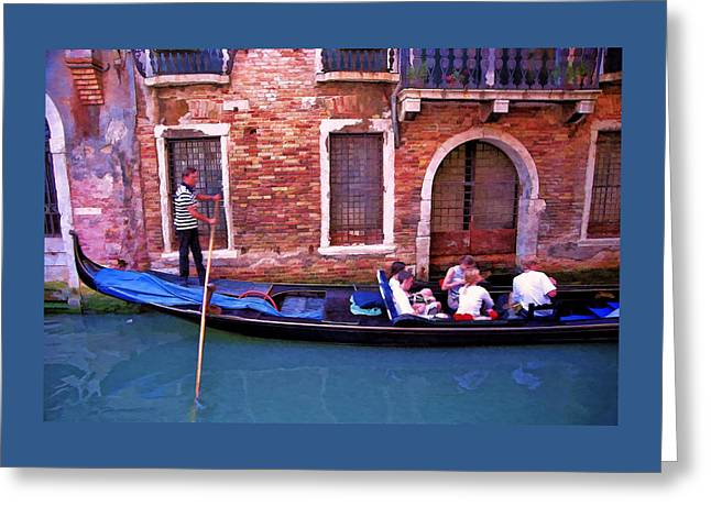 Greeting Card featuring the photograph Gondola 4 by Allen Beatty