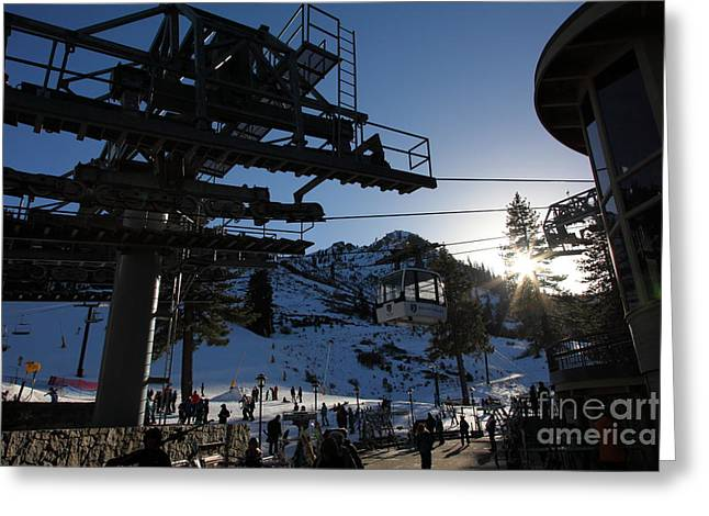 Gondola At Squaw Valley Usa 5d27684 Greeting Card by Wingsdomain Art and Photography