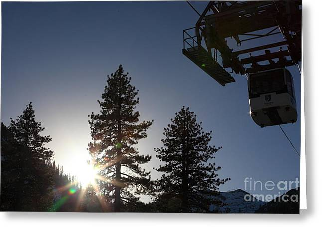 Gondola At Squaw Valley Usa 5d27687 Greeting Card by Wingsdomain Art and Photography