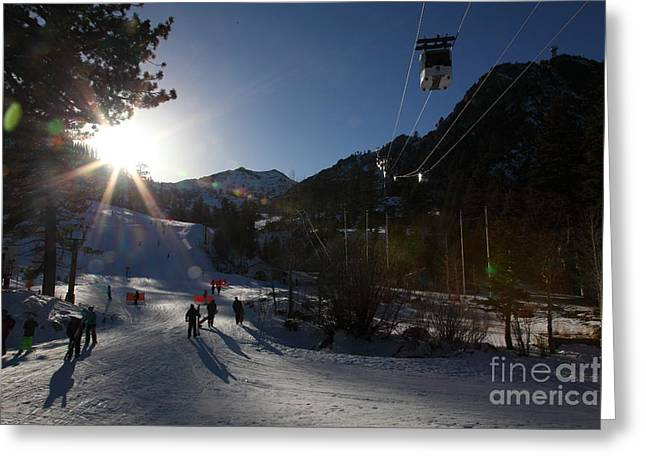 Gondola At Squaw Valley Usa 5d27688 Greeting Card by Wingsdomain Art and Photography