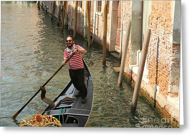 Gondola Man Greeting Card