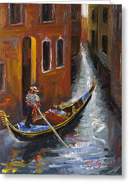 Gondola Ride Greeting Card by Mitzi Lai