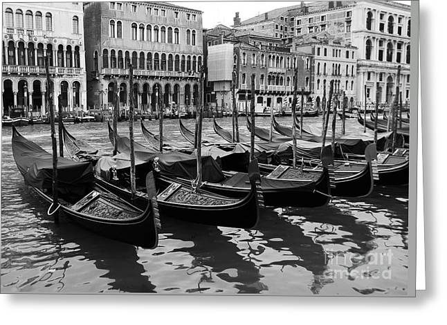 Gondolas In Black Greeting Card