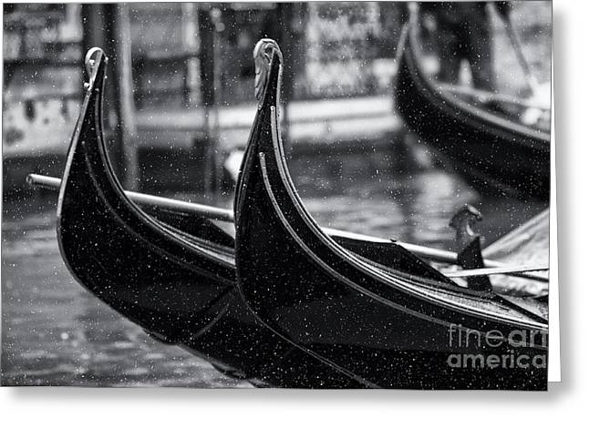 Gondolas In Venice Greeting Card by Design Remix