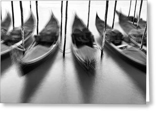 Gondolas - Venice Greeting Card by Rod McLean