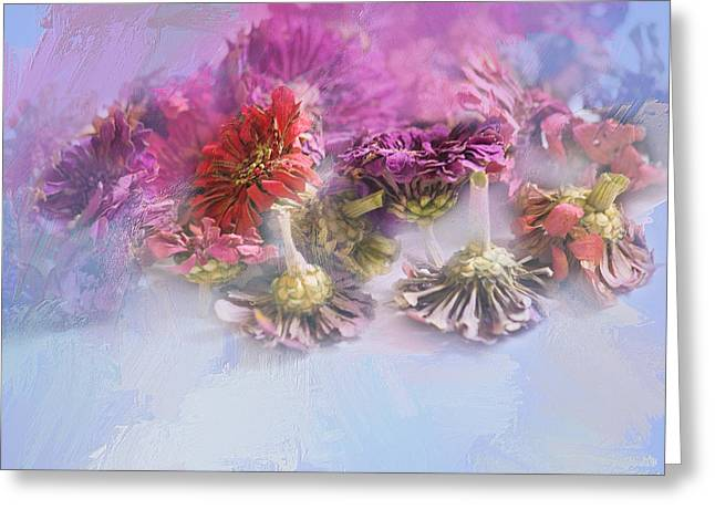 Gone But Not Forgotten Greeting Card by Bonnie Bruno