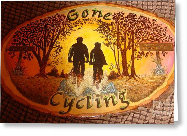 Gone Cycling Greeting Card by Dakota Sage