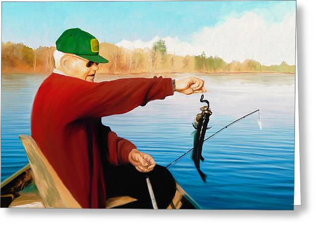 Gone Fishing Greeting Card by Dale Jackson