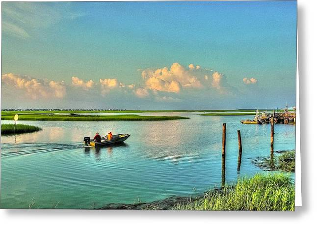 Gone Fishing Greeting Card by Ed Roberts