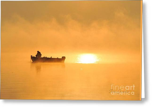 Greeting Card featuring the photograph Gone Fishing by Terri Gostola
