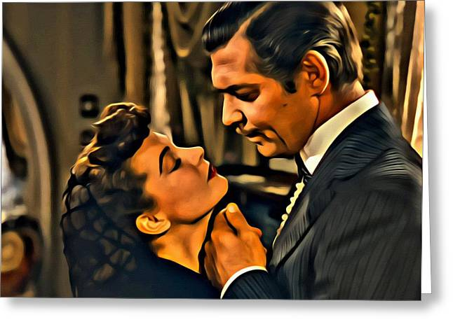 Greeting Card featuring the painting Gone With The Wind by Florian Rodarte