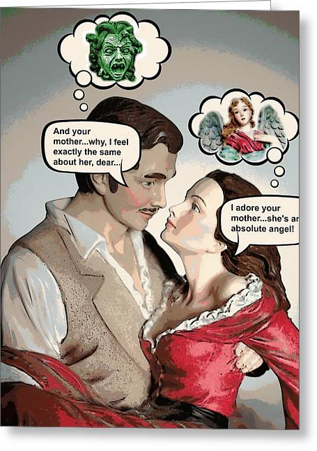 Gone With The Wind Humor Greeting Card