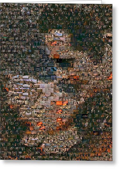 Gone With The Wind Scene Mosaic Greeting Card by Paul Van Scott