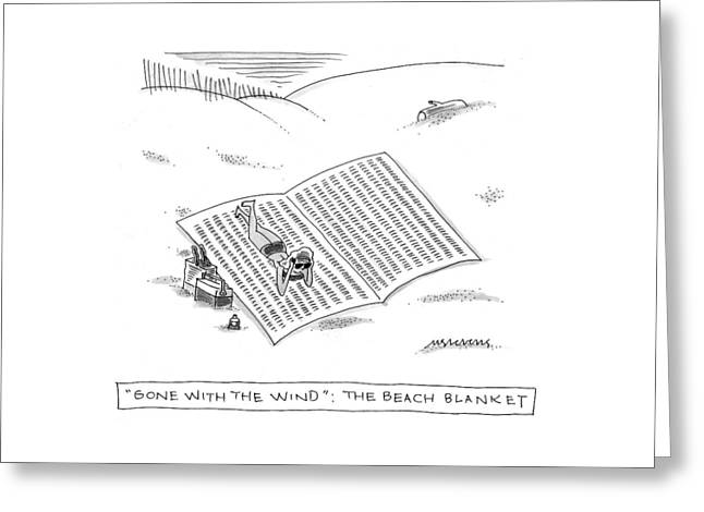 Gone With The Wind: The Beach Blanket Greeting Card