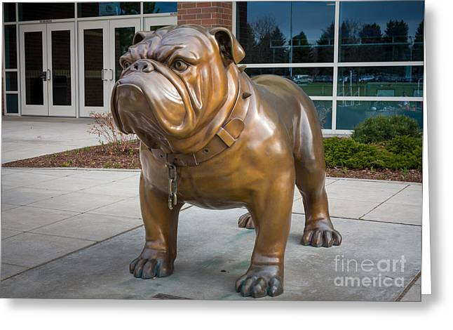 Gonzaga Bulldog Greeting Card by Inge Johnsson