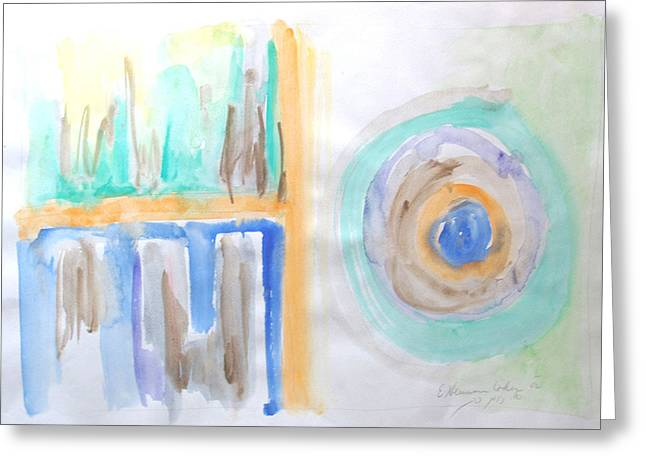 Greeting Card featuring the painting Good Afternoon Abstract by Esther Newman-Cohen