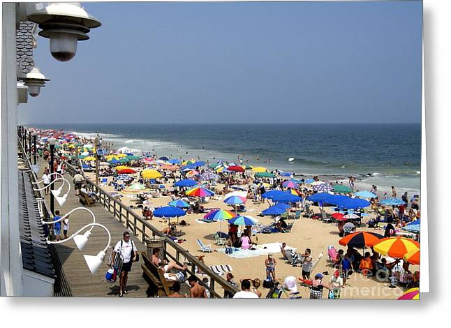 Good Beach Day At Bethany Beach In Delaware Greeting Card